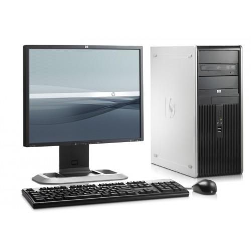 PACHET Unitate Calculatoare HP DC7800 Tower, Intel Core 2 Duo E6850 3.0Ghz, 2Gb DDR2, 160Gb SATA, DVD-RW cu Monitor LCD