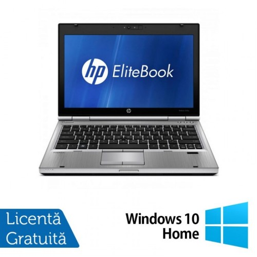 Laptop HP EliteBook 2560p, Intel Core i5-2540M 2.60GHz, 4GB DDR3, 320GB SATA, DVD-RW, 12 Inch + Windows 10 Home, Refurbished