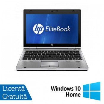 Laptop HP EliteBook 2560p, Intel Core i5-2450M 2.50GHz, 8GB DDR3, 320GB SATA, DVD-RW, 12 Inch + Windows 10 Home, Refurbished