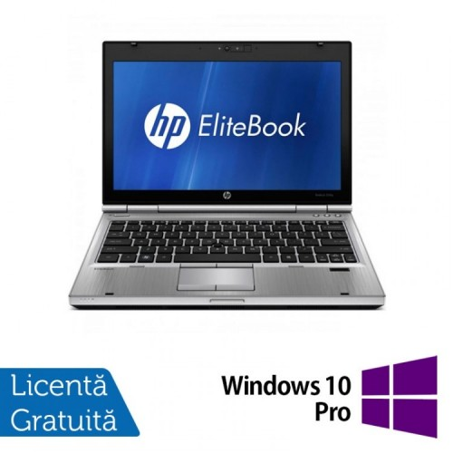Laptop HP EliteBook 2560p, Intel Core i5-2540M 2.60GHz, 4GB DDR3, 320GB SATA, DVD-RW, 12 Inch + Windows 10 Pro, Refurbished