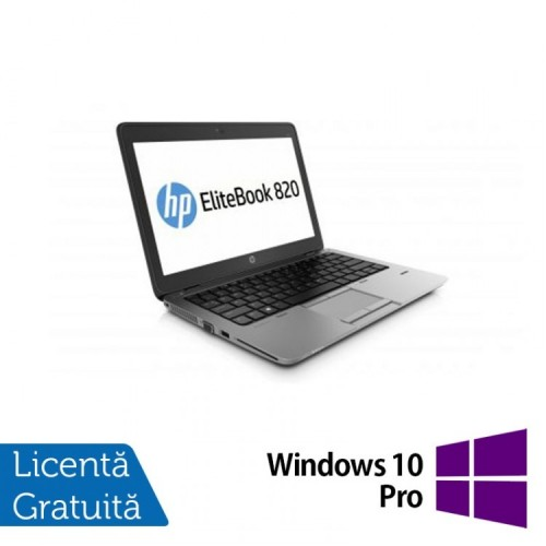 Laptop HP EliteBook 820 G1, Intel Core i7-4600U 2.10GHz, 16GB DDR3, 120GB SSD, 12 inch + Windows 10 Pro, Refurbished