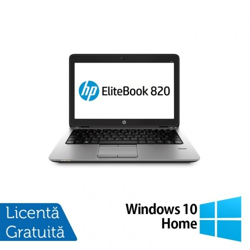 Laptop HP Elitebook 820 G2, Intel Core i5-5300U 2.30GHz, 8GB DDR3, 240GB SSD, Webcam, 12 Inch + Windows 10 Home, Refurbished