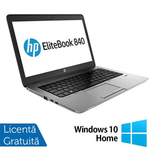 Laptop Refurbished HP EliteBook 840 G1, Intel Core i5-4200U 1.60GHz , 8GB DDR3, 120GB SSD, Webcam, 14 inch + Windows 10 Home