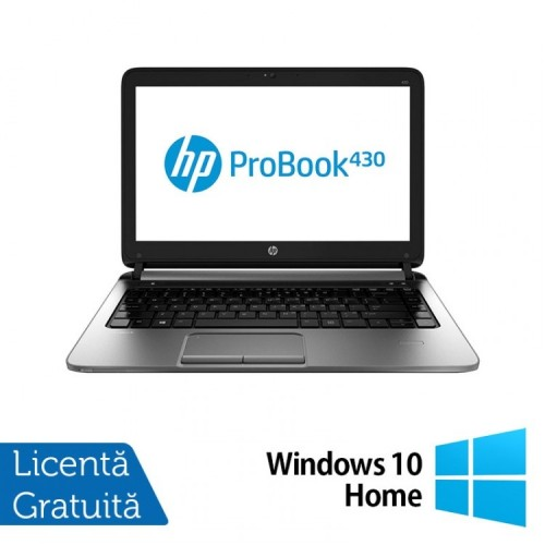 Laptop Refurbished HP ProBook 430 G1, Intel Celeron Dual Core 2955U 1.4GHz , 4GB DDR3, 320GB SATA + Windows 10 Home