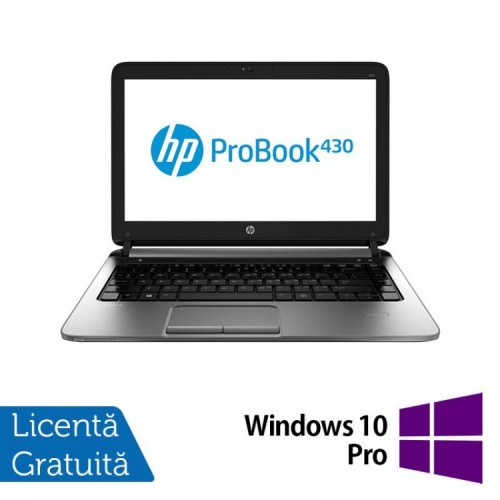 Laptop Refurbished HP ProBook 430 G1, Intel Celeron Dual Core 2955U 1.4GHz , 4GB DDR3, 320GB SATA + Windows 10 Pro