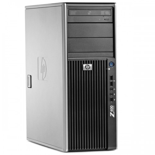 PC Hp Z400 WorkStation, Intel Xeon Quad Core W3503, 2.4Ghz, 6Gb DDR3 ECC, 320Gb HDD, DVD-RW, NVIDIA NVS290