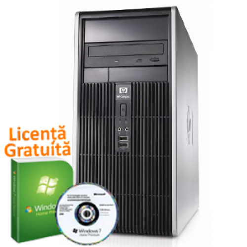Calculator SH HP DC5700 Tower, Intel Pentium Dual Core E5300, 2.6Ghz, 2Gb, 160Gb HDD, DVD-RW + Win 7 Premium