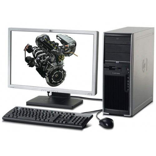 Workstation Hp xw4600 Core 2 Duo E6850, 3.0Ghz, 4Gb RAM, 160Gb SATA, DVD-RW cu Monitor LCD ***