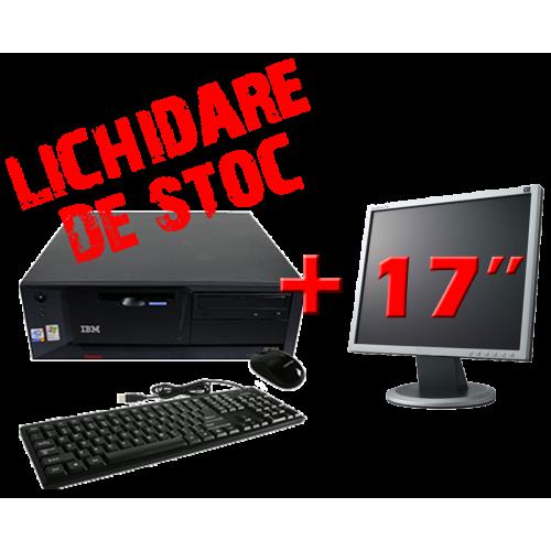 Pachet PC  IBM ThinkCentre M50-8187, Pentium 4, 3.0Ghz,Memorie RAM 512MB, HDD 40Gb, DVD-ROM+ Monitor LCD 17 inch ***