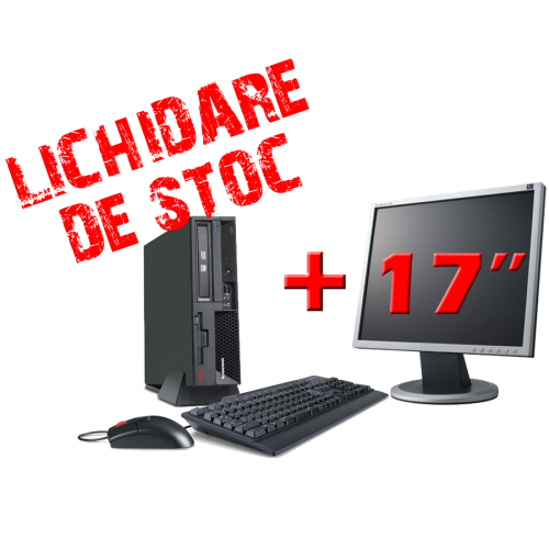 Calculatoare ieftine IBM 8807, Dual Core E2140  , 1.6Ghz, 1Gb DDR2, 80Gb SATA, DVD-ROM  cu Monitor 17 inch***