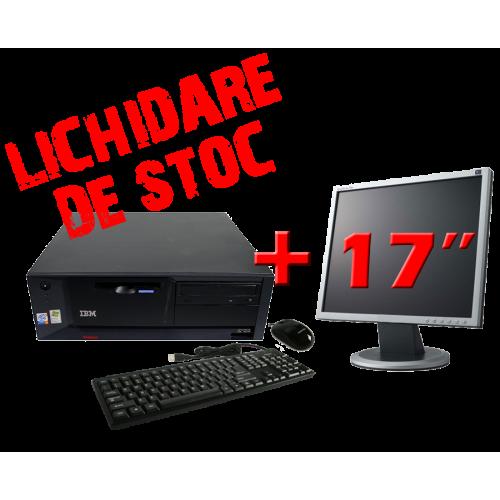 Pachet calculator  IBM 6087, Dual Core Pentium D , 1.6Ghz, 2Gb DDR2, 80Gb SATA2, DVD-ROM cu Monitor 17 inch ***