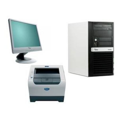 Fujitsu P5720, Procesor E6550 2.3Ghz, 2Gb DDR2, 80Gb RW + Monitor LCD 17 inci + Brother HL-5250DN