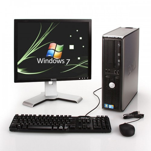 Pachet PC+LCD Dell Optiplex 380 Desktop, Intel Core2 Duo E5300 2.6Ghz, 2Gb DDR3, 250Gb, DVD-RW
