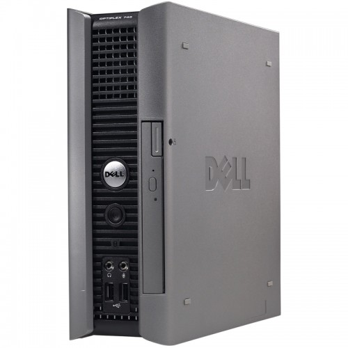 Unitate PC Dell Optiplex 745 USFF, Intel Dual Core E2160 1.80Ghz, 2Gb DDR2, 80Gb, DVD-ROM