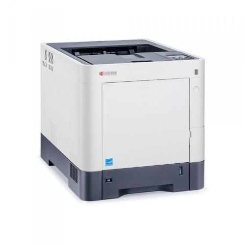 Imprimanta KYOCERA ECOSYS P6130CDN, 30PPM, 600 x 600 DPI, Duplex, Retea, USB, A4, Color, Second Hand