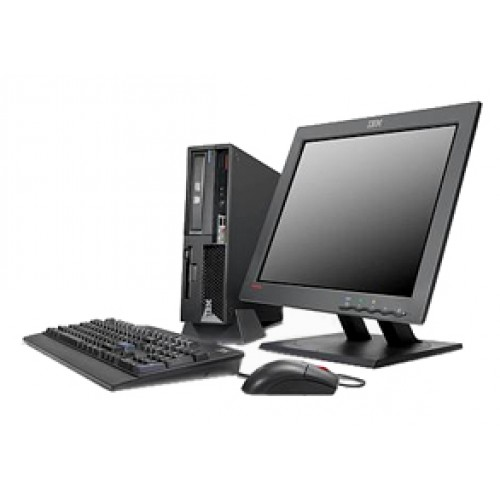 Pachet PC Lenovo ThinkCentre M55 SFF, Dual Core E6300, 1.86Ghz, 2GB DDR2, 80GB HDD, DVD cu monitor LCD