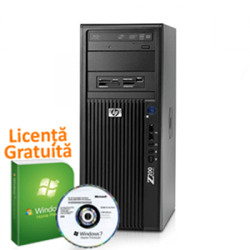 Unitate SH Statie Grafica HP Z200, Intel Core i7-870, 2.93Ghz, 4Gb DDR3, 250Gb HDD, DVD-RW + Windows 7 Premium