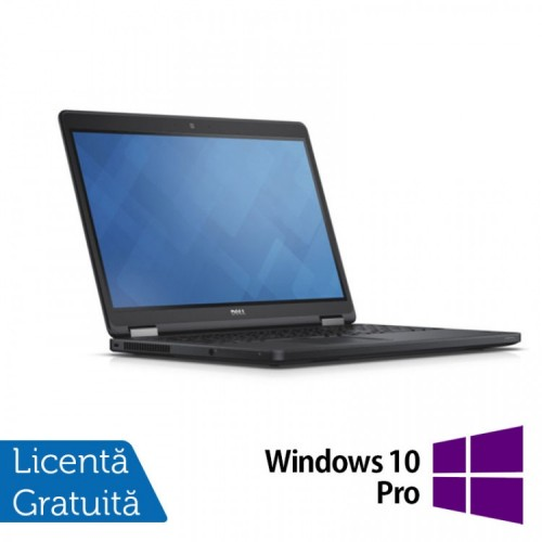 Laptop DELL Latitude E5250, Intel Core i5-5300U 2.30GHz, 16GB DDR3, 500GB SATA, 13 Inch + Windows 10 Pro, Refurbished
