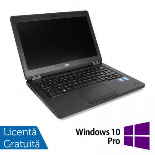 Laptop DELL Latitude E5450, Intel Core i3-5010U 2.10GHz, 4GB DDR3, 120GB SSD, 14 Inch + Windows 10 Pro, Refurbished