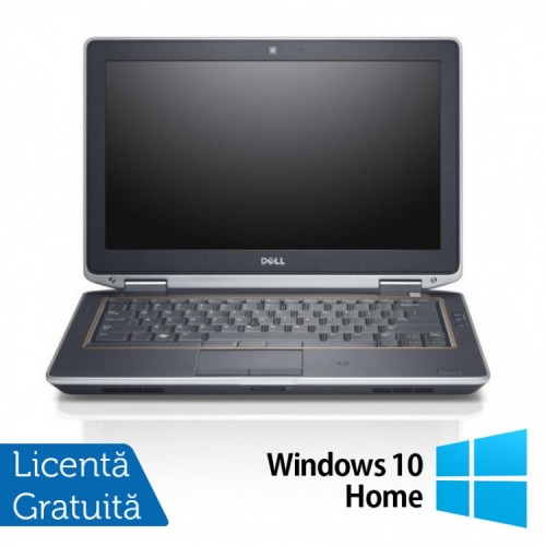 Laptop Dell Latitude E6320, Intel Core i5-2520M 2.50GHz, 4GB DDR3, 120GB SSD, DVD-RW, 13.3 Inch LED + Windows 10 Home, Refurbished