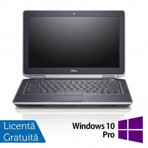 Laptop Dell Latitude E6320, Intel Core i5-2520M 2.50GHz, 4GB DDR3, 120GB SSD, DVD-RW, 13.3 Inch LED + Windows 10 PRO, Refurbished
