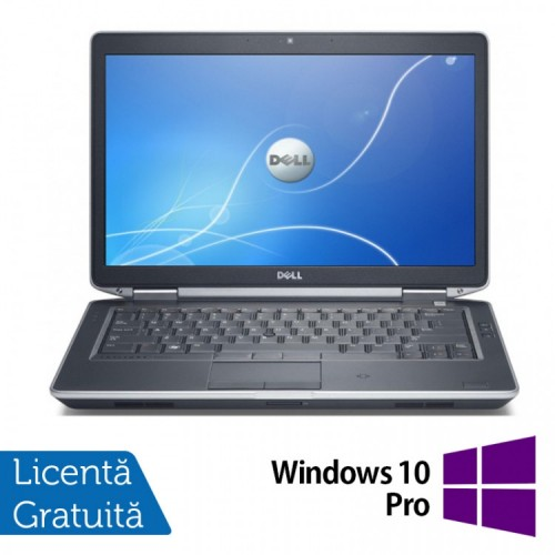 Laptop DELL Latitude E6430, Intel Core i5-3340M 2.70GHz, 4GB DDR3, 120GB SSD, DVD-RW + Windows 10 Pro, Refurbished