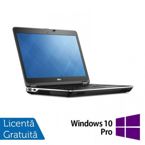 Laptop DELL Latitude E6440, Intel Core i5-4200U 1.60GHz, 8GB DDR3, 320GB SATA, DVD-RW, 14 inch + Windows 10 Pro, Refurbished