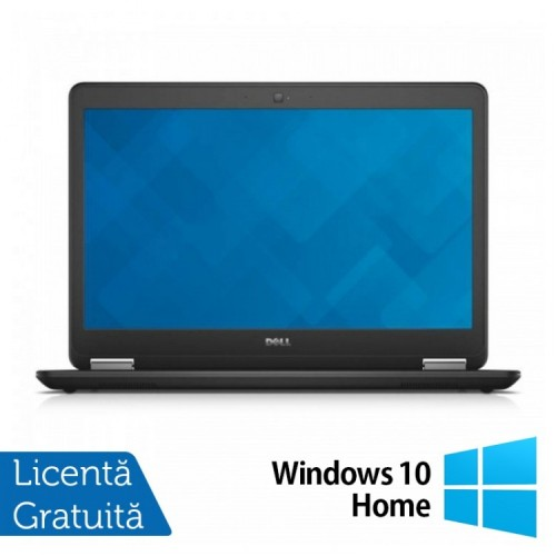 Laptop Dell Latitude E7450, Intel Core i7-5600U 2.60 GHz, 16GB DDR3, 240GB SSD, LED Display, HDMI, Full HD, Webcam, 14 Inch + Windows 10 Home, Refurbished