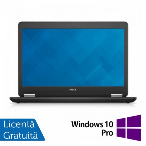 Laptop Dell Latitude E7450, Intel Core i7-5600U 2.60 GHz, 8GB DDR3, 512GB SSD, LED Display, HDMI, Full HD, Webcam, 14 Inch + Windows 10 PRO, Refurbished
