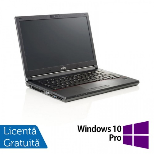Laptop Fujitsu Lifebook E546, Intel Core i3-6006U 2.00GHz, 8GB DDR4, 240GB SSD, Webcam, 14 Inch + Windows 10 Pro, Refurbished