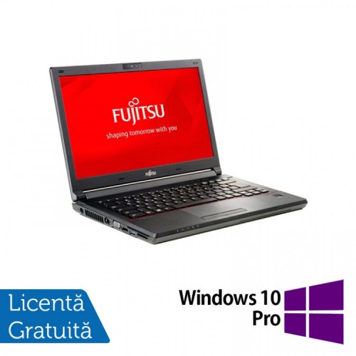 Laptop Fujitsu Lifebook E746, Intel Core i3-6100U 2.30GHz, 8GB DDR4, 240GB SSD, 14 Inch, Webcam + Windows 10 Pro, Refurbished