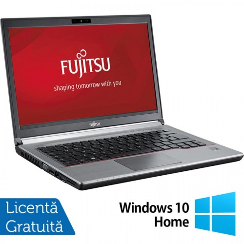 Laptop FUJITSU SIEMENS E734, Intel Core i3-4000M 2.40GHz, 8GB DDR3, 120GB SSD, 13.3 inch + Windows 10 Home, Refurbished