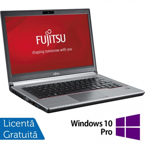 Laptop FUJITSU SIEMENS E734, Intel Core i3-4000M 2.40GHz, 8GB DDR3, 120GB SSD, 13.3 inch + Windows 10 Pro, Refurbished