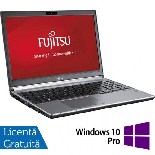 Laptop FUJITSU SIEMENS Lifebook E753, Intel Core i5-3230M 2.60GHz, 8GB DDR3, 120GB SSD, 15.6 Inch, Tastatura Numerica + Windows 10 Pro, Refurbished