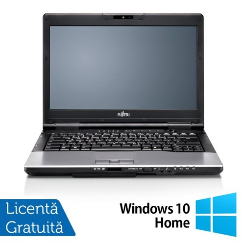 Laptop FUJITSU SIEMENS Lifebook S752, Intel Core i3-3110M 2.40GHz, 4GB DDR3, 320GB SATA, DVD-RW + Windows 10 Home, 14 Inch, Refurbished