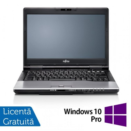 Laptop FUJITSU SIEMENS Lifebook S752, Intel Core i3-3110M 2.40GHz, 4GB DDR3, 320GB SATA, DVD-RW + Windows 10 Pro, 14 Inch, Refurbished