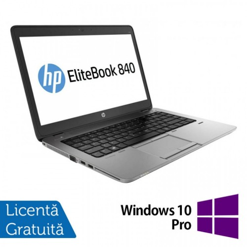 Laptop HP Elitebook 840 G2, Intel Core i7-4600U 2.10GHz, 8GB DDR3, 240GB SSD, 14 Inch + Windows 10 Pro, Refurbished