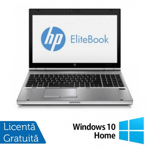 Laptop HP EliteBook 8570p, Intel Core i5-3320M 2.60GHz, 8GB DDR3, SATA 320GB, DVD-RW Windows 10 Home, Refurbished