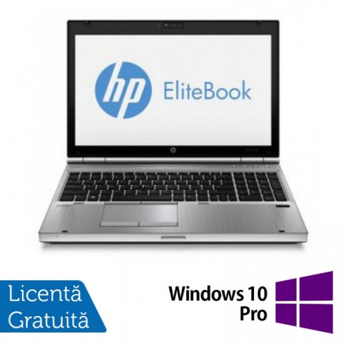 Laptop HP EliteBook 8570p, Intel Core i5-3340M 2.70GHz, 4GB DDR3, SATA 320GB, DVD-RW +WIN 10 PRO, Refurbished