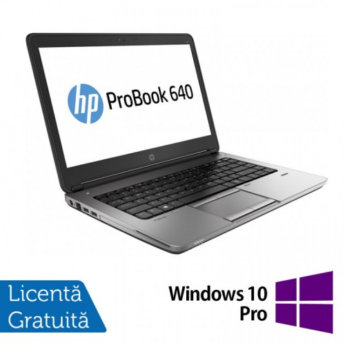 Laptop HP ProBook 640 G1, Intel Core i5-4200M 2.50GHz, 8GB DDR3, 320GB SATA, DVD-RW, Webcam, 14 inch + Windows 10 PRO, Refurbished