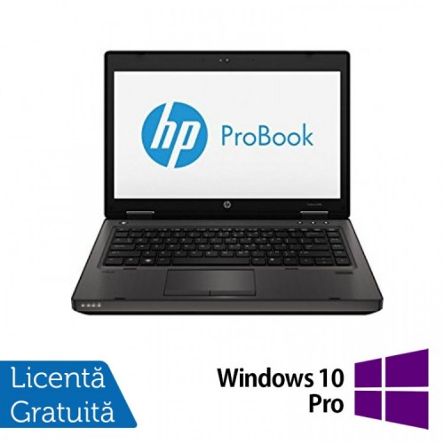 Laptop Refurbished HP ProBook 6470B, Intel Core i5-3210M 2.50GHz, 4GB DDR3, 320GB SATA, DVD-RW, 14 Inch + Windows 10 PRO