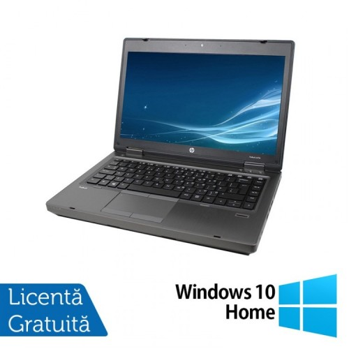 Laptop HP ProBook 6475b, AMD A4-4300M 2.50GHz, 4GB DDR3, 320GB SATA, DVD-RW, 14 Inch + Windows 10 Home, Refurbished