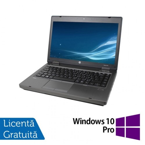 Laptop HP ProBook 6475b, AMD A4-4300M 2.50GHz, 4GB DDR3, 320GB SATA, DVD-RW, 14 Inch + Windows 10 Pro, Refurbished
