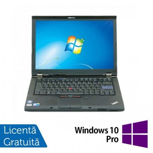Laptop LENOVO T410, Intel Core i5-520M 2.40GHz, 4GB DDR3, 320GB SATA, DVD-RW, 14.1 Inch + Windows 10 Pro, Refurbished