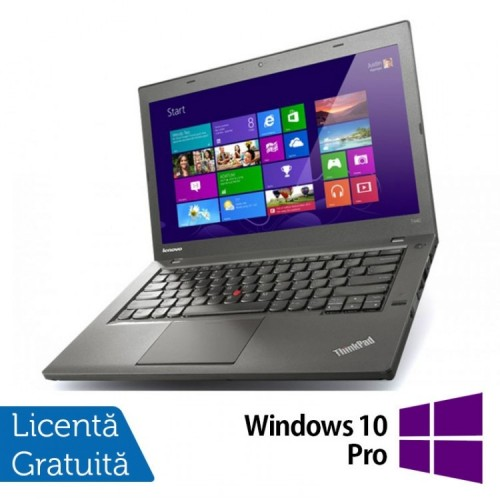 Laptop Lenovo ThinkPad T440, Intel Core i5-4300U 1.90GHz, 8GB DDR3, 120GB SSD, 14 Inch + Windows 10 Pro, Refurbished