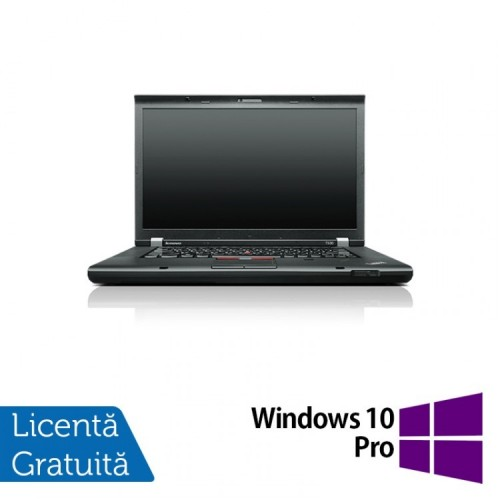 Laptop LENOVO ThinkPad T530, Intel Core i5-3320M 2.60 GHz, 8GB DDR3, 320GB SATA, DVD-RW, 15 Inch + Windows 10 Pro, Refurbished