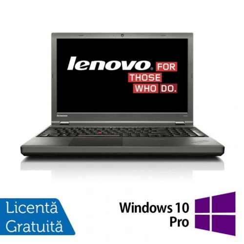 Laptop LENOVO ThinkPad T540P, Intel Core i5-4300M 2.60 GHz, 16GB DDR3, 120GB SSD, 15 Inch + Windows 10 Pro, Refurbished