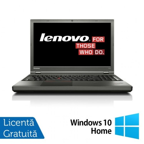 Laptop LENOVO ThinkPad T540P, Intel Core i5-4300M 2.60 GHz, 8GB DDR3, 120GB SSD, 15 Inch + Windows 10 Home, Refurbished