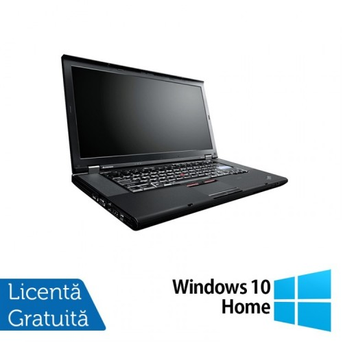 Laptop Lenovo ThinkPad W520, Intel Core i7-2860QM 2.50GHz, 8GB DDR3, 320GB SATA, Nvidia Quadro 1000 2GB, Webcam, 15.6 Inch + Windows 10 Home, Refurbished