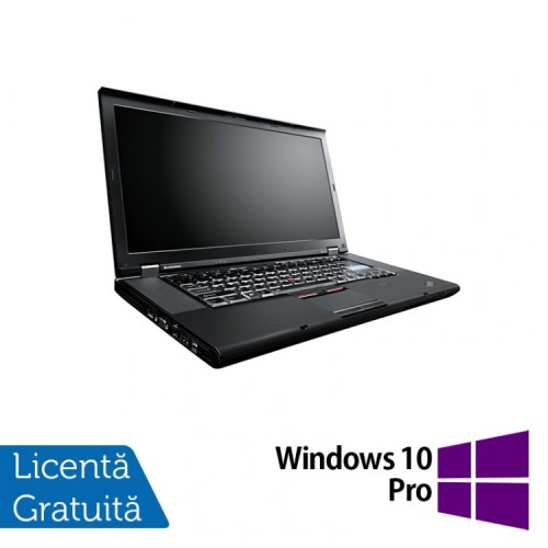 Laptop Lenovo ThinkPad W520, Intel Core i7-2860QM 2.50GHz, 8GB DDR3, 320GB SATA, Nvidia Quadro 1000 2GB, Webcam, 15.6 Inch + Windows 10 Pro, Refurbished